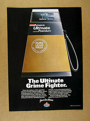 1986 Amoco Ultimate Premium Gas Pump photo vintage print Ad