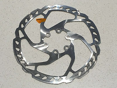 Shimano SLX RT66 160mm Disc Brake Rotor in Silver 6 Bolt