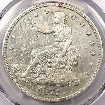 1877-S Trade Silver Dollar T$1 - Certified PCGS AU Detail - Rare Certified Coin!