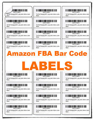 Fulfilled by Amazon (FBA) Blank Bar code Labels  Merchant Barcode  Address Label