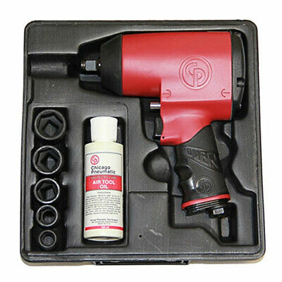 "Chicago Pneumatic 1/2"" Super Duty Impact Wrench with 5 SAE Sockets - CP749K"