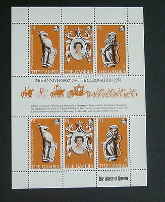 Gambia 1978 25th Ann of Coronation sheetlet MNH UM unmounted mint  lion