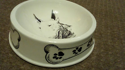 English Bull Terrier Dog Bowl