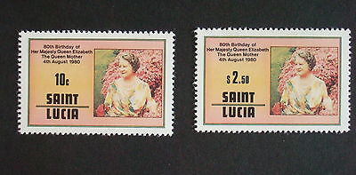 St Lucia 1980 Queen Mother's 80th Birthday SG534/5 UM MNH unmounted mint