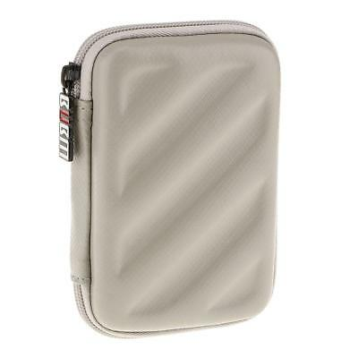 Rugged Carry Case For Bands Cable / USB Stick Hard Drive/ Memory Card Silver