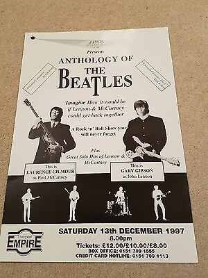 Anthology of The Beatles - Empire Theatre Liverpool - Theatre Poster - 1997