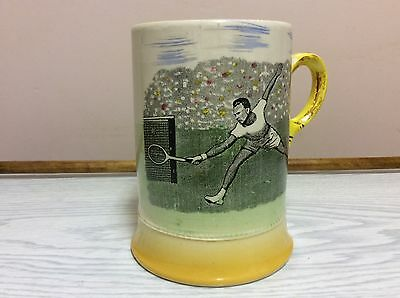 "Tennis Art Deco Arthur Wood ""Tennis "" sporting Tankard / Mug"