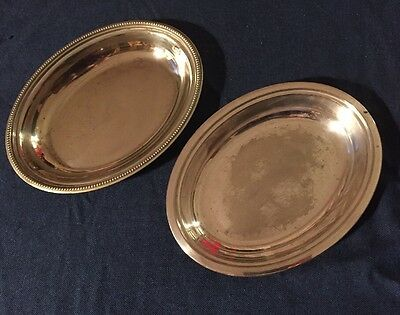 Antique Vintage Silver Plated Serving Canape Dishes X 2 Wedding