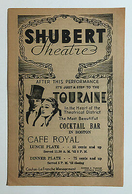 "Shubert Theatre Souvenir Program, ""Reflected Glory"", Tallulah Bankhead, c. 1937"