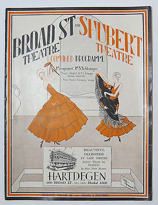 Broad Street & Shubert Theatre Combined Programme 1929 Farce Comedy Art Deco Art