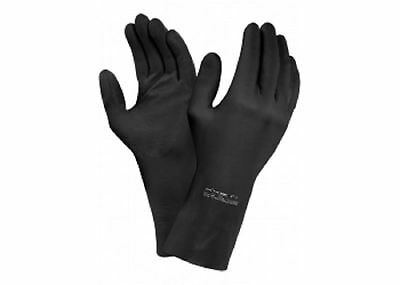 ANSELL Extra 87-950 Heavy Duty Black Rubber Latex Gloves Chemical Protection