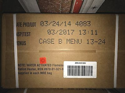 US MRE Meal Ready To Eat Rations Case B