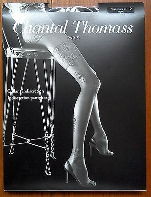 collants Chantal Thomass indiscrétion noir taille 2 neuf