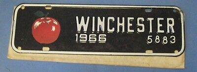 1966 Winchester Virginia License plate with Red Apple never used