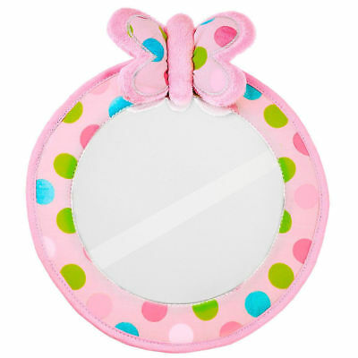 Playette Pink Butterfly Baby Quick View Mirror for Car Headrest Seat/Polka Dots