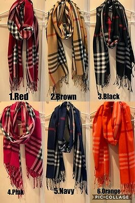 Wholesale Silk Blend Plaid Scarf Wrap Light Weight for Women LOT of 6, 12, 24