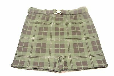 Vtg ARROW Men's Swim Trunks Plaid Nylon Stretch Bathing Suit Belt Shorts 1960's