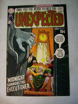 UNEXPECTED #117 COVER ART original approval cover proof 1970's, CARDY!!