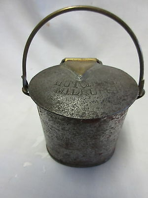 RARE Ant English Milk Cream Can W Brass Hinges from Hutchings Millhurst Dairy
