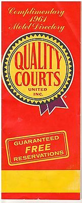 1961 Quality Courts Motel Directory - East Of The Mississippi & Canada