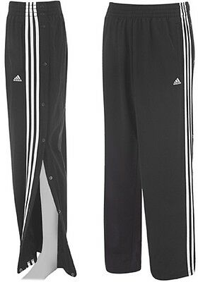 Adidas Xl Youth Boys Kids Tear Away Pants Polyester Black Athletic Pant