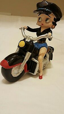 Betty Boop  Shopper Betty Easy Rider Motorcycle Figurine  #6977 2004 used