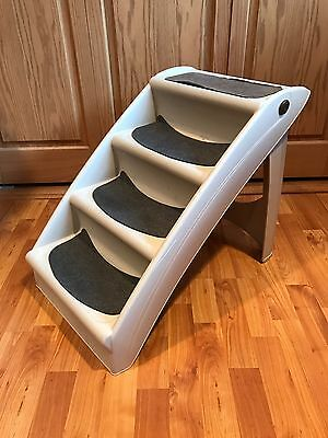 Solvit Doggie Steps for Small Dogs Bed Step Stool Folding Portable Pet Ramp