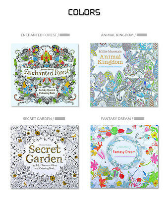 Adult coloring of 4 books relieve stress new Coloring Book secret garden