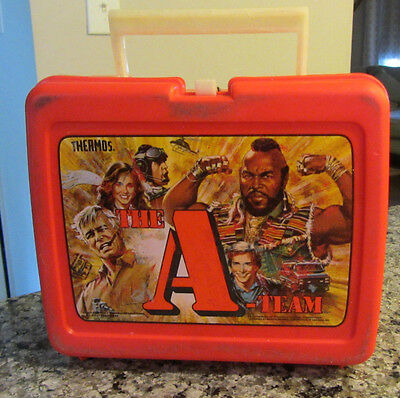 Vintage 1983 A-Team Plastic Lunchbox only