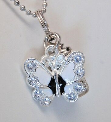 Butterfly Cremation Urn Necklace White Cremation Jewelry Memorial Urn Cylinder