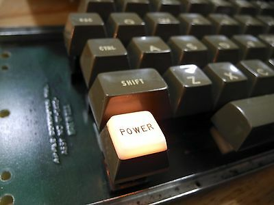 1978 Early Apple II Raised Power Light Keyboard w/Cable TESTED Made in USA RARE