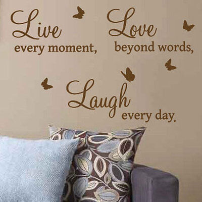 Live Love Laugh Art Wall Quote Stickers, Wall Decals, Words Lettering  23
