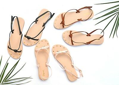 New Women's Summer Casual Flat Gladiator Strappy Thong Flip Flops Sandals Shoes