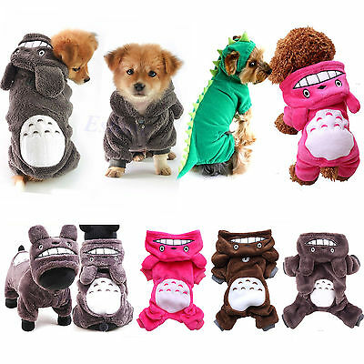 Totoro Hoodie Costume Warm Dog Clothes Pet Jacket Coat Puppy Cat Sweater Apparel
