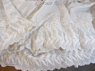 Antique Flounce Embroidered Lace Trims Lot WEDDING Ayshire Beautiful Work