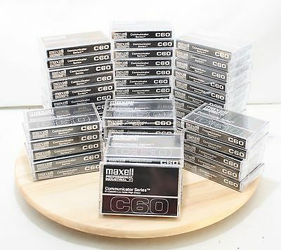 50 MAXELL C60 Professional / Industrial P/I Communicator Series Audio Cassettes