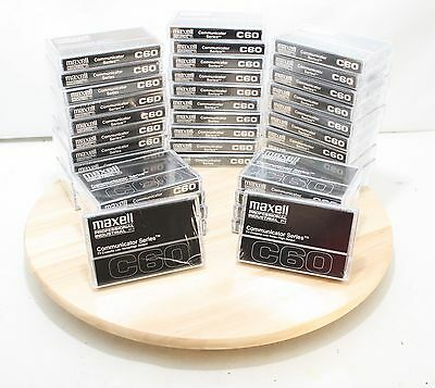 40 MAXELL C-60 Professional / Industrial Communicator Series Audio Cassettes