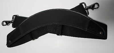 Hartmann Leather Replacement Shoulder Strap Black Garment Carry On Luggage Bag