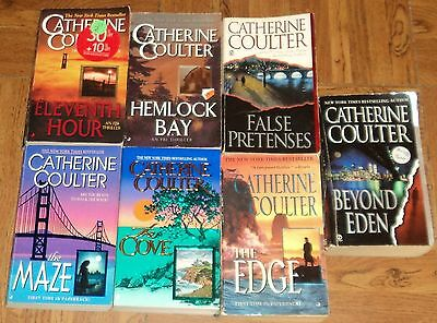 """CATHERINE COULTER """"THRILLER"""" PAPERBACK COLLECTION - Lot of 7 - Great Reads!!"""