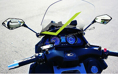 Kymco My Road 700 Front Hexagonal Mirrors (Carbon / Matte)