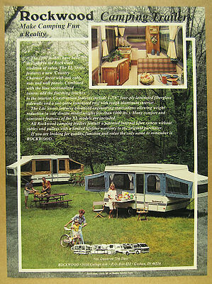 1990 Rockwood XL Series Camping Trailer Camper color photo vintage print Ad