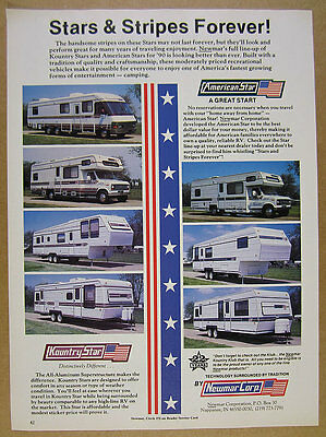 1990 Newmar American & Kountry Star RV Motorhome Trailers photo vintage print Ad