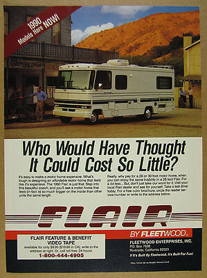 1990 Fleetwood Flair Motorhome RV color photo vintage print Ad
