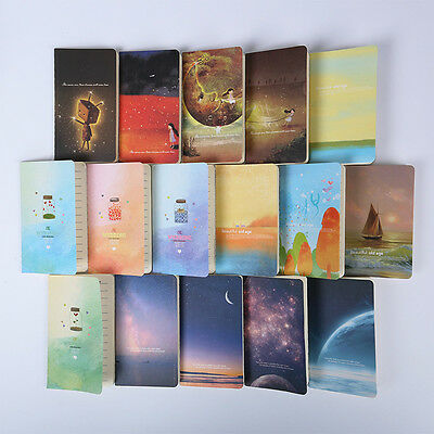 New Mini Cute Journal Diary Notebook With Lined Paper Vintage Retro Notepad Book