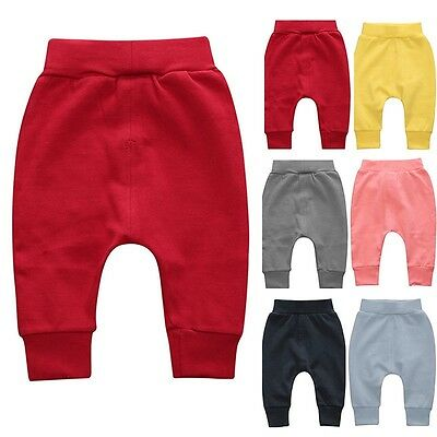 Newborn Baby Harem Pants Toddler Kids Boys Girls Solid Leggings Bottoms Trousers