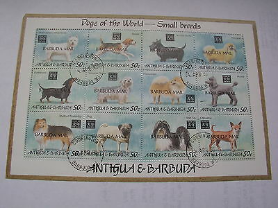 Barbuda mail Dogs of the world 1994 small breeds (small crease top left corner)