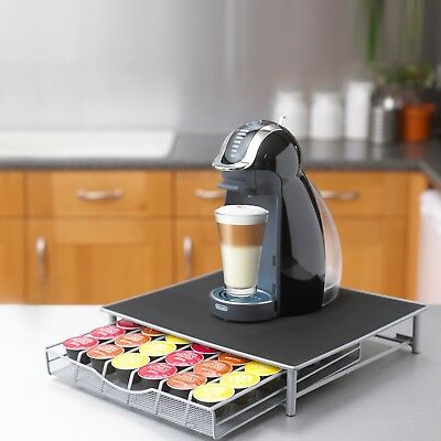 Coffee Machine Stand & Capsule Pod Storage Holder Drawer Dolce Gusto Nespresso