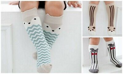 Discounted Clearance Kids Boys Girls Striped Animal Socks Bundle Age 6-12M 1 2 3