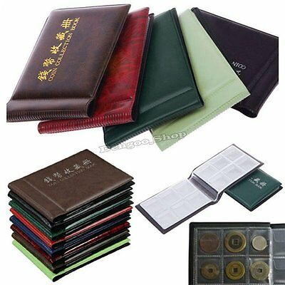 60 Coins Collection Holders Storage Money Penny Pocket Album Book Folder