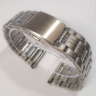 WATCH BRACELET Stainless Steel 26mm or 28mm Width Top Quality Push Button Clasp